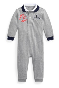 Ralph Lauren Grey Polo Babygrow
