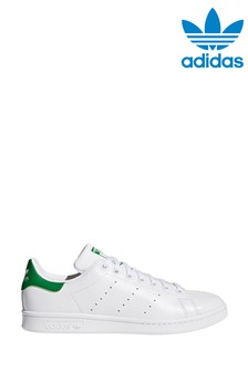 adidas Originals White/Green Stan Smith Trainers
