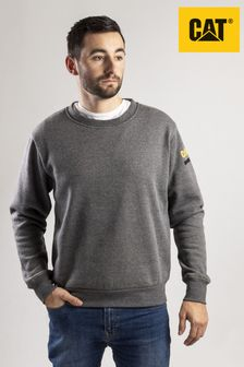 CAT® Grey Essentials Crew Neck Sweater
