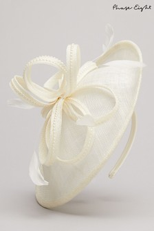 Phase Eight Cream Pamela Disc Fascinator