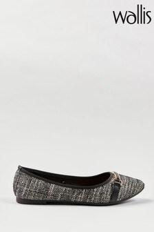 Wallis Bonita Black Trim Pointed Ballerina Shoes
