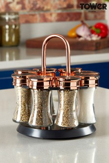 Tower Rotating 8 Jars Spice Rack