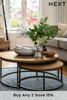Oak Effect Bronx Nest Of 2 Coffee Tables