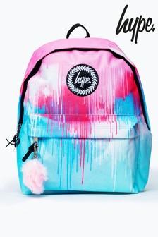 Hype. Pastel Tie Dye Drips Pom Pom Backpack