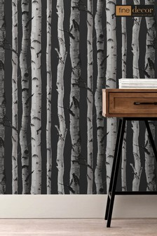 Distinctive Birch Tree Sidewall Wallpaper by Fine Décor