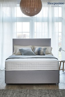 Grey 2000 Orthopaedic Mattress Divan Set By Sleepeezee