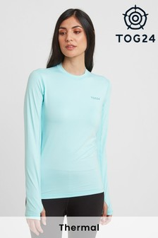 Tog 24 Womens Blue Snowdon Thermal Crew Neck Base Layer Top