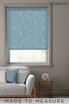 Laurus China Blue Made To Measure Roller Blind by MissPrint