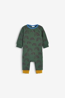 Green Cosy Rainbow Romper (0mths-2yrs)