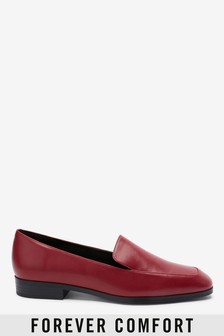Red Chisel Toe Loafers