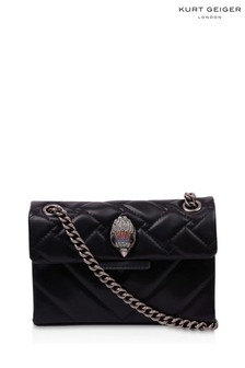 Kurt Geiger London Black Recycled Mini Kensington Bag