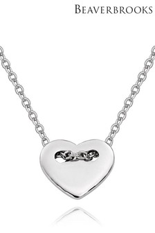 Beaverbrooks Sterling Silver Heart Necklace