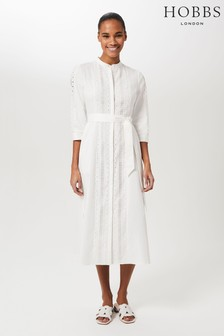 Hobbs Cream Diana Dress