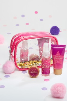 Miss Sparkle Glitter Wash Bag Gift Set