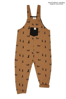 Turtledove London Cats & Dogs Easy Fit Honey Dungarees