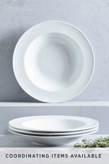 Malvern Embossed Set of 4 Pasta Bowls