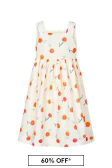 Bonpoint Girls Cream Cotton Dress