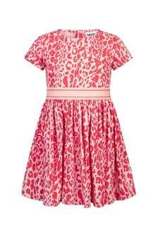 فستان قطن وردي للبنات منMolo