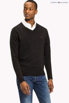 Tommy Hilfiger Core Cotton Silk V-Neck Sweater