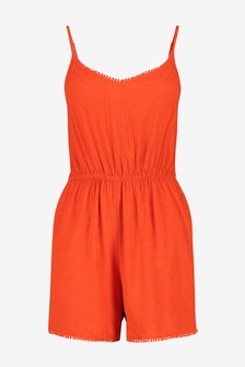 Orange Strappy Playsuit