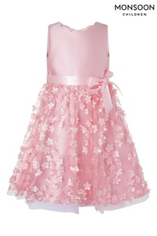 Monsoon Dusky Pink 3D Flower Dress
