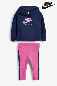 Nike Infant Navy/Pink Air Hoody And Legging Set