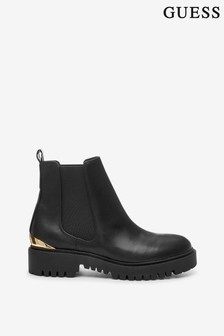 Guess Black Olet Leather Boots
