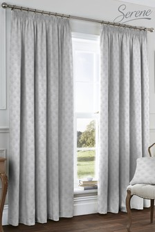 Nouveau Fan Pencil Pleat Curtains by Serene
