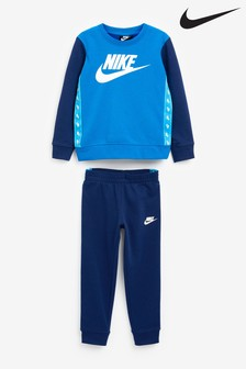 Nike Little Kids Tape Logo Crew and Jogger Set