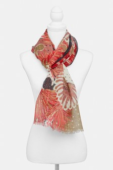 Floral Sequin Scarf