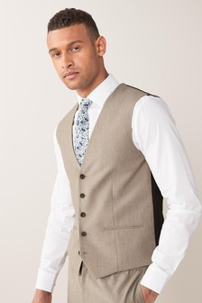 Taupe Stretch Marl: Waistcoat