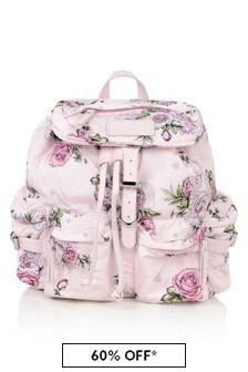 Girls Pink Rose Backpack