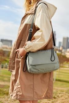 Grey Sporty Across Body Bag