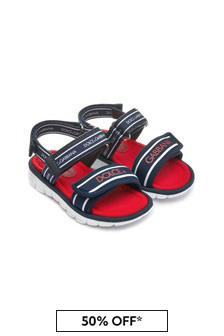Dolce & Gabbana Kids Baby Boys Blue Leather Sandals