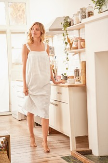 White Cotton Night Dress