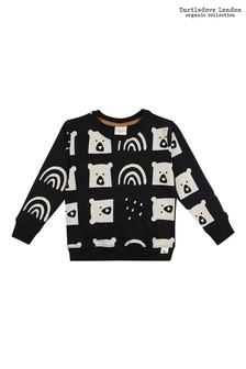 Turtledove London Rain Bear Black Sweatshirt