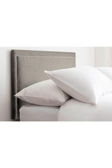 Simple Contemporary Silver Astoria Headboard