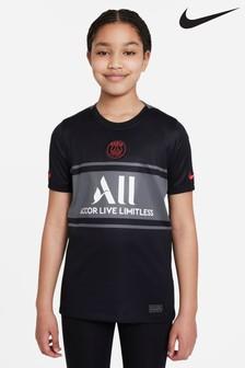 Nike Kids Black PSG 21/22 Third Football Shirt