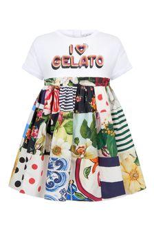 Dolce & Gabbana Kids Girls Black Cotton Dress