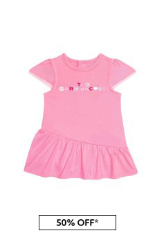 Marc Jacobs Baby Girls Pink Cotton Girls Dress