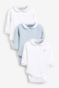 White 3 Pack Premium Long Sleeve Bodysuits (0mths-3yrs)