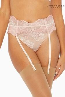 Janet Reger Rouge Pink Suspender Belt