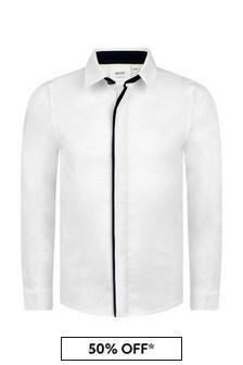 Boys Cotton Slim Fit Shirt