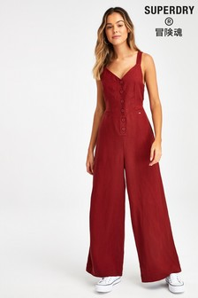 Superdry Rose Linen Jumpsuit