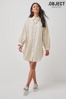 OBJECT Beige Almas Shirt Dress