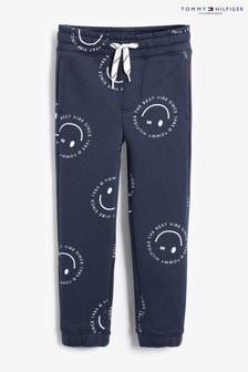 Tommy Hilfiger Blue Printed Smile Sweatpants