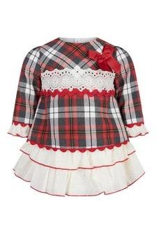 Baby Girls Red Check Dress