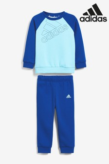 adidas Infant Blue Crew And Jogger Set