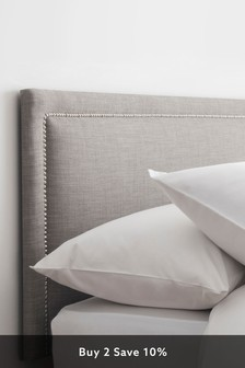 Sumptuous Velour Silver Astoria Headboard