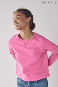 GANT Pink Sunfaded Crew Neck Sweatshirt